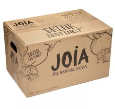 Joia All Natural Soda : Designed By: DesignReplace, Minneapolis, MN Kraft Packaging, Beer Packaging, Packaging Design, Label Design, Web Design, Custom Shipping Boxes, Sandwich Packaging, Carton Design, Soap Packing