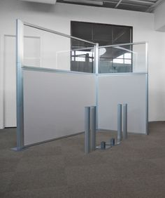 Hush Panel DIY Cubicle Partitions Require No Tools U2013 Simply Slide The  Panels And Posts Together To Create Your Own Workstation Cubicles.