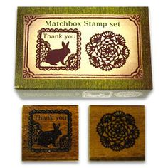 Cute Japanese Matchbox Stamp Set -Lace. $8.50, via Etsy.