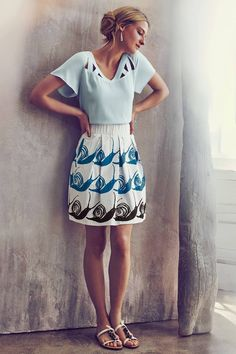 Swirled Snail Skirt by Maeve #anthrofave #anthropologie