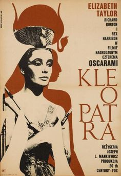 Cleopatra Film Poster, 1968