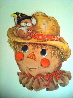 HALLOWEEN Vintage Scarecrow DIECUT