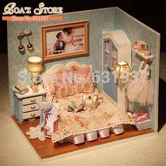 Nova Diy boneca de madeira casa de bonecas Miniatura Kits modelo de brinquedo mini 3D Puzzle para crianças brinquedos de presente de natal em Casinhas de boneca de Brinquedos & Lazer no AliExpress.com | Alibaba Group