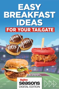 Easy breakfast ideas for your tailgate. Homemade Breakfast, Breakfast Recipes, Breakfast Ideas, Fun Baking Recipes, Cooking Recipes, Food Hacks, Food Tips, Family Meals, Baked Goods