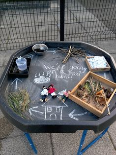 We're going on a bear hunt tuff spot. EYFS. Early years learning. Reception. Foundation.