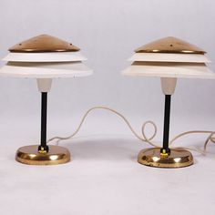 Pair of Mid century desk lamps by Kumbal on Etsy Mid Century Desk, Lamps, Candle Holders, Candles, Lighting, Unique Jewelry, Handmade Gifts, Etsy, Vintage