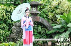 Mulan Disney - Cosplay - Costume - poster - pink dress - chinese umbrella