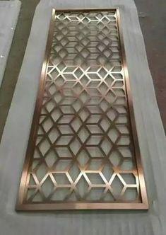 Laser cut pattern metal screen