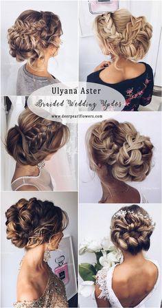 Ulyana Aster Long Braided Wedding Updo Hairstyles #weddings #weddingideas #weddnghairstyles #hairstyles ❤️ http://www.deerpearlflowers.com/ulyana-aster-wedding-hairstyles-2/