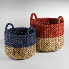 La Redoute online store, FREE Click & Collect for orders over and free returns†. Crochet Basket Tutorial, Diy Furniture Building, Red Basket, Sisal, Jute Crafts, House Plants Decor, Art Bag, Crochet Home Decor, Modern Crochet