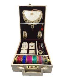 1Rod Premium Bangle Box with Ring Earring necklace Jewelry Locker Organizer Case