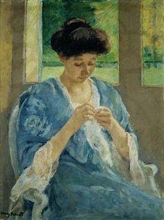 """*""""Augusta Sewing Before a Window"""", Mary Cassatt*"""