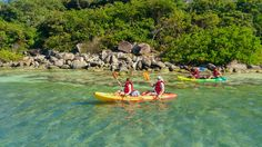 Kayakers at Little Key, between St. Martin & Pinel Island