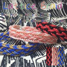 This is a hooked design. No loom needed.   *Zuzu*  Lattice Braid rainbowloom