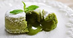 Matcha Lava Cake Recipe | HeyTheresia - Indonesian Food & Travel Blogger