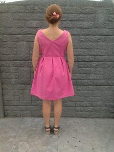 June dress in roze gabardine!