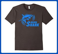Mens MAMA SHARK T-SHIRT MOMMY SHARK  Large Asphalt - Relatives and family shirts (*Amazon Partner-Link)