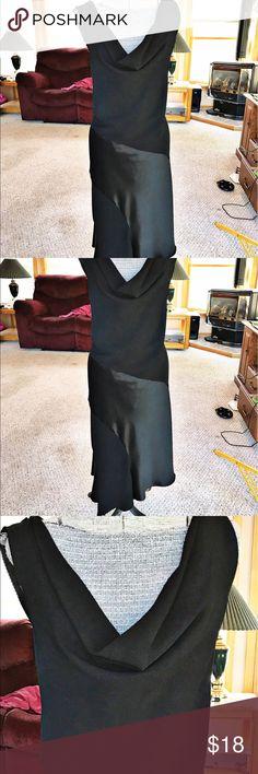 "Sandra Daren size 18 black sleeveless dress Sandra Darren size 18 sleeveless dress. There is a small hole at hem, note last pic. Asymmetrical hem, length flat lay at shortest hem length is 48"" Sandra Darren Dresses Asymmetrical"