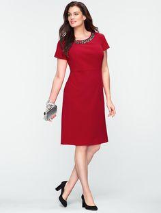 Talbots - Beaded Ottoman Knit Dress