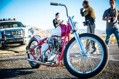 """Fred the bike"" that the Fast N Loud crew beat Jesse James with on the show Chopper Live."