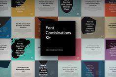 Font Combinations Kit by Komol Kuchkarov on @creativemarket