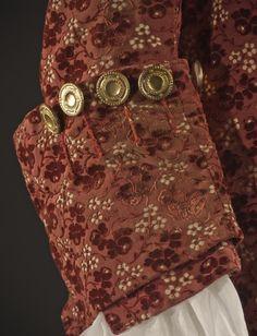 Man's Suit France, circa 1755 Costumes Silk cut, uncut, and voided velvet (ciselé) on satin foundation