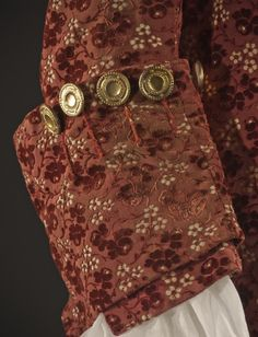 Man's Suit France, circa 1755 Costumes Silk cut, uncut, and voided velvet (ciselé) on satin foundation