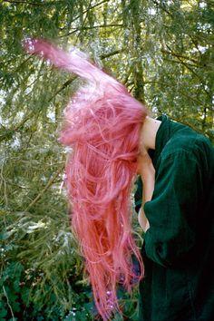 Bubblegum pink hair colour.