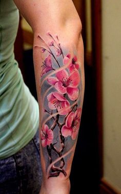 38 Best Cherry Blossom Tattoo Forearm Images In 2017 Cherry