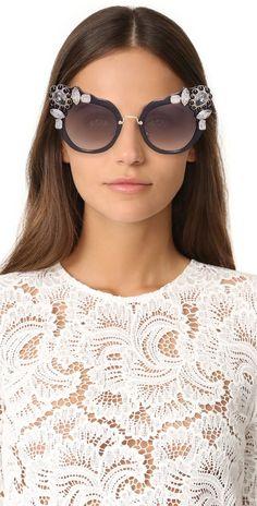 Miu Miu Adorned Sunglasses | SHOPBOP