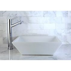Parisan White Vitreous China  Vessel Lavatory Sink 16 x 16 inches - Overstock.com