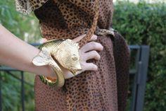 Sandra_Bauknecht_Cavalli_Goldfish_cuff http://www.sandrascloset.com/my-look-animal-print/