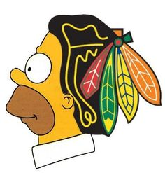 Homer Loves the Chicago Blackhawks!