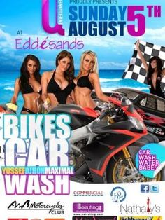 Bikes Car Wash at Edde Sands, Party (DJ Mixer), Edde Sands Beach Resort, in collaboration with Q Entertainment, is hosting a bikes and cars wash. DJs Yussef, Djhon and Maximal will be there to keep the party going....