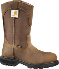 Find Carhartt Women's 11 in. Waterproof Wellington Boot in the Women's Work Boots category at Tractor Supply Co.Just for women, the Carhartt Wom Safety Toe Boots, Slip Resistant Shoes, Steel Toe Work Boots, Wellington Boot, Cool Boots, Waterproof Boots, Fashion Boots, Boy Fashion, Womens Fashion