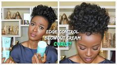 I Curled My Natural Hair With EDGE CONTROL? 4c Natural Hair (After Flat Ironing)