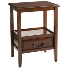 Anywhere Tuscan Brown End Table with Pull Handles
