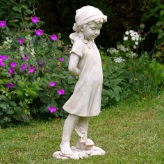Image detail for -Girl Holding A Rose Garden Statues - Garden Ornaments