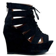 Caged Capricorn Wedge Platform Heels