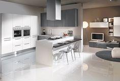 Cucina CU02_0004 Cucina componibile moderna, composizione angolare con penisola…