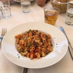 Looking forward to getting my fill of Greek and Mediterranean dishes soon. Like this pasta and seafood dish at a restaurant in the back streets of Hydra. Shhh its a secret. Mediterranean Dishes, Seafood Dishes, Pasta Salad, Fill, Greece, Restaurant, Vacation, Ethnic Recipes, Holiday