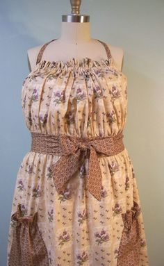 Queen Size Apron with Lavendar Flowers by SusannahAllen on Etsy, $39.00
