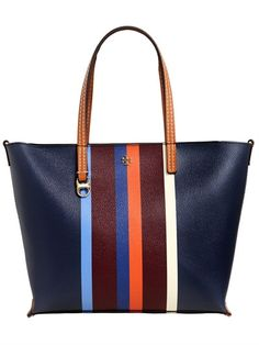 "TORY BURCH - BOLSO DE ECOPIEL CON RAYAS ""KERRINGTON"" - MULTICOLOR"