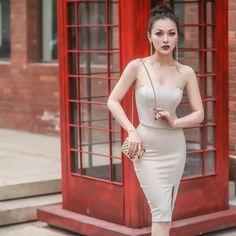 Quality In Nice Le Palais Vintage 2017 Stylish Full Bandage Dress Elastic Cotton Fabric High Rise Patchwork Color Sleeveless Back Zipper Placket Superior