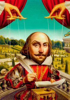 The other faces of Shakespeare. 15 funny and satirical illustrations // Las otras caras de Shakespeare. 15 ilustraciones disparatadas y satíricas. http://www.eraseunavezqueseera.com/2014/08/06/las-otras-caras-de-shakespeare/