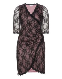 Wrap around style lace dress by Kiyonna. Shop now: http://www.navabi.us/dresses-kiyonna-wrap-around-style-lace-dress-black-dusky-pink-19309-2438.html?utm_source=pinterest&utm_medium=social-media&utm_campaign=pin-it