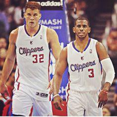 LA Clippers Blake Griffin #32 Chris Paul #3