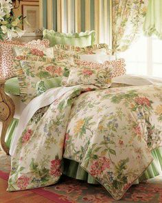 Bedroom Bed, Dream Bedroom, Home Decor Bedroom, English Cottage Interiors, Country Bedding, Home Furnishing Stores, Pink Bedrooms, Beautiful Bedrooms, Beautiful Beds