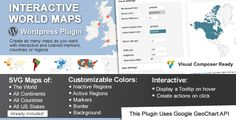 Interactive World Maps . This is a Wordpress plugin to create as many maps as you want, with interactive and colored markers, continents, countries or regions.(Check out the standalone non-wordpress version