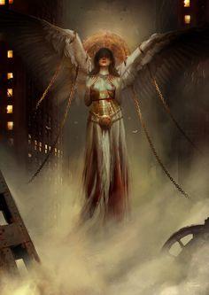 "KULT: Divinity Lost (official Cover Art) by Bastien Lecouffe ""Deharme"" Dark Fantasy Art, Fantasy Artwork, Fantasy Girl, Dark Art, Ange Demon, Arte Obscura, World Of Darkness, Mystique, Angels And Demons"